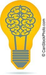Creativity Brain Idea Logo Illustration