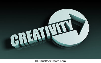 Creativity Concept With an Arrow Going Upwards 3D