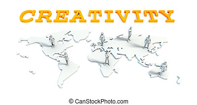 Creativity Concept with Business Team