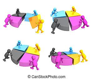 Symbol of CMYK color blending