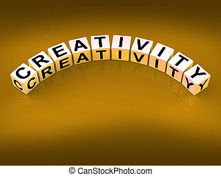 Creativity Dice Meaning Inventiveness Inspiration And Ideas