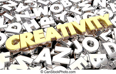 Creativity Imagination Word Letters Ideas 3d Illustration