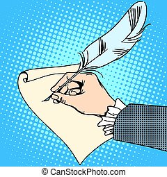 Creativity literature poet writer quill pen