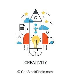 Creativity modern vector concept