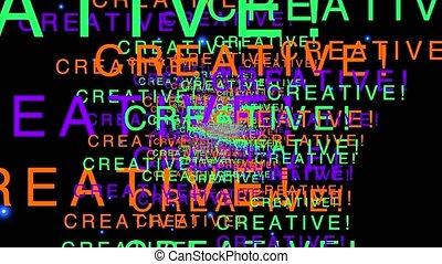 Creativity motion graphics - motivation wallpaper
