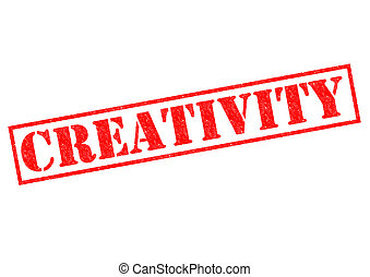 CREATIVITY red Rubber Stamp over a white background.