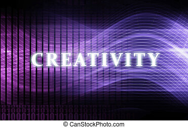 Creativity as a Abstract Background Concept Art