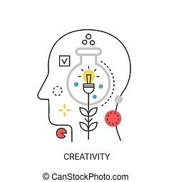 Creativity vector illustration concept.