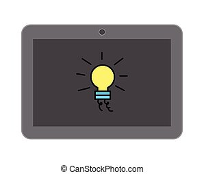 Creativity with Tablet Vector
