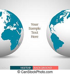 creativo, affari, fondo, con, globo