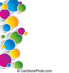 creativo, colorido, círculos