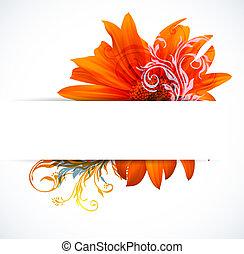 creativo, colorido, flor, plano de fondo