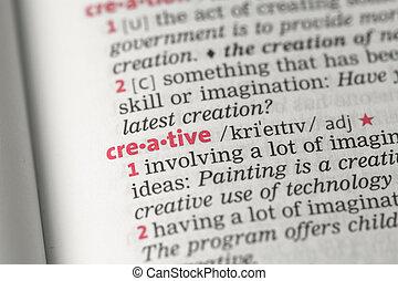 creativo, definición