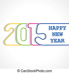 creativo, diseño, año, 2015, nuevo, feliz