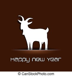 creativo, disegno, anno, 2015, nuovo, felice