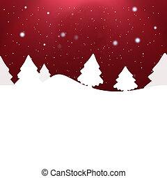 creativo, disegno, natale, fondo, inverno