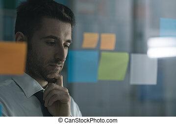 creativo, empresa / negocio, soluciones, y, estrategia