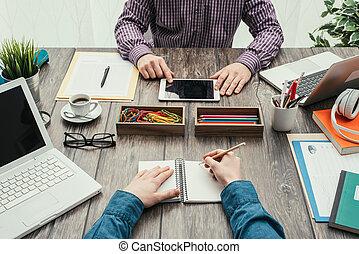 creativo, equipo negocio