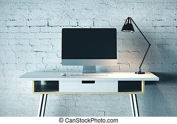 creativo, escritorio, diseñador