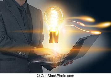 creativo, estrategia de la corporación mercantil, concepto