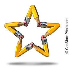 creativo, estrella