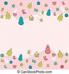 creativo, feliz navidad, plano de fondo