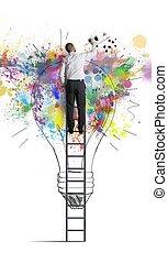 creativo, idea affari