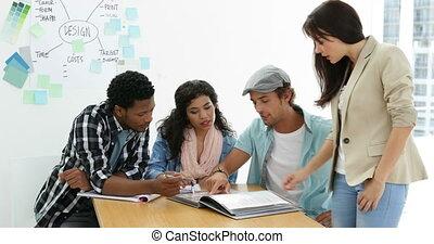 Creativo, lavorativo, giovane, insieme, squadra