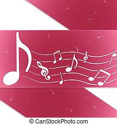 creativo, música nota, púrpura
