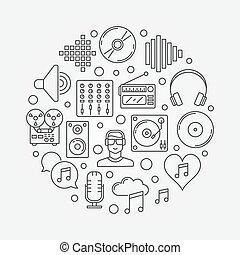 creativo, musica, illustrazione
