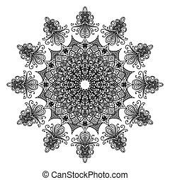 creativo, ornamento, blanco, plano de fondo