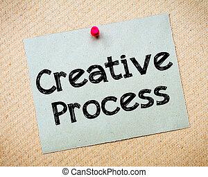 creativo, proceso