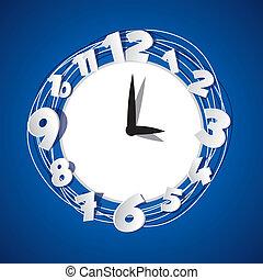 creativo, reloj