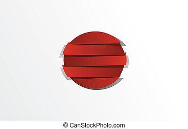 creativo, resumen, bandera, de, japón