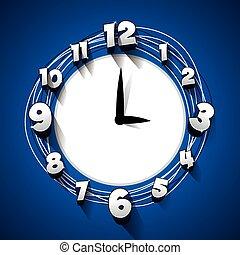 creativo, resumen, reloj