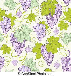 creativo, seamless, uva, fondo.