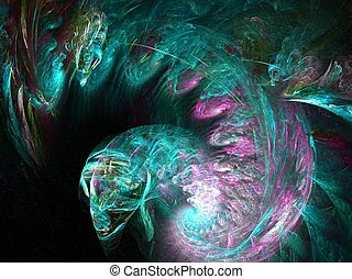 creature - abstract created with apophysis, suitable as a ...