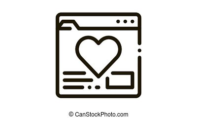 creature dating site Icon Animation. black creature dating site animated icon on white background