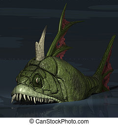 Creature of the deep - Scary fish from the deeps of the sea...