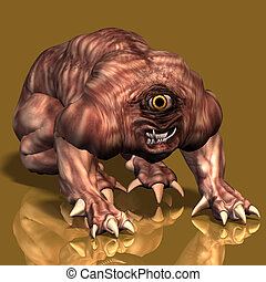 Creature of the night #01 - Scary creature crawling towards ...