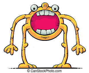 Creature with big mouth - Cute creature with big mouth