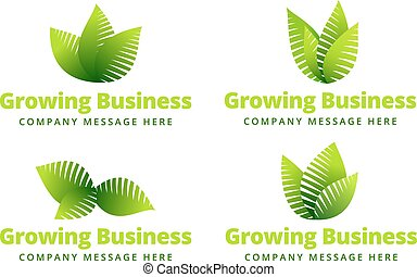 crecer, logotipo, hoja