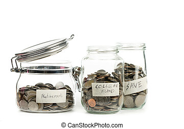crecer, planta, paso, con, moneda, dinero