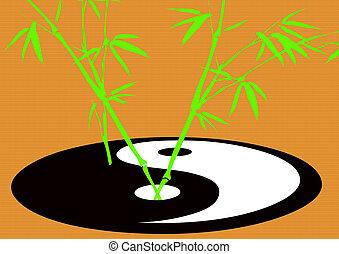 crecer, símbolo, taoísmo, bambú