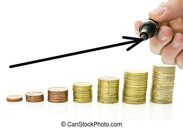 crecer, tasa, interés