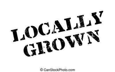 crecido, caucho, locally, estampilla