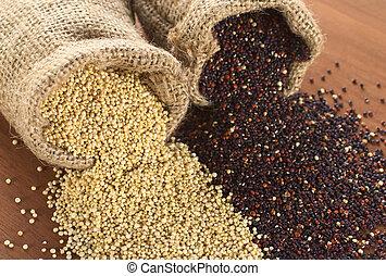 crecido, contenido, grano, granos, quinoa, valor, región,...
