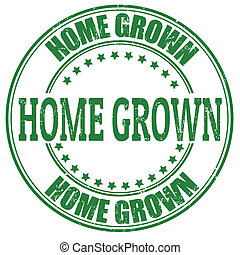 crecido, hogar, estampilla