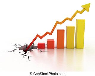 crecimiento, concepto de la corporación mercantil, financiero
