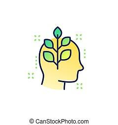 crecimiento personal, icono, contorno